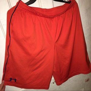 Under Armour Bottoms - Under Armour orange/ navy stripe shorts